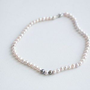 Natural Very Light Baby Pink Pearl Necklace